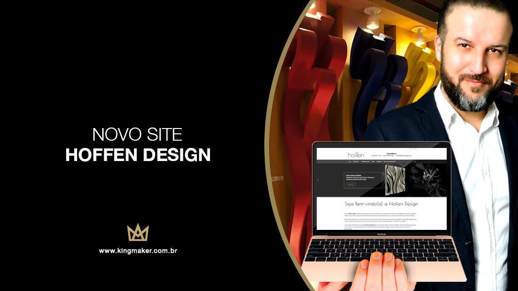 Novo site da Hoffen Design tem projeto assinado por Alexsandro Kingmaker