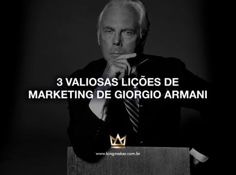 3 valiosas lições de marketing de Giorgio Armani