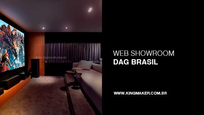 Criação de site para Dag Brasil Home Theater e automação residencial | Alexsandro Kingmaker