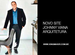 Alexsandro Kingmaker assina novo site do escritório Johnny Viana Arquitetura e Interiores
