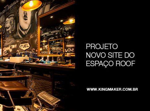 Projeto novo site do espaço ROOF Barbearia, Bar e Charutaria   Alexsandro Kingmaker