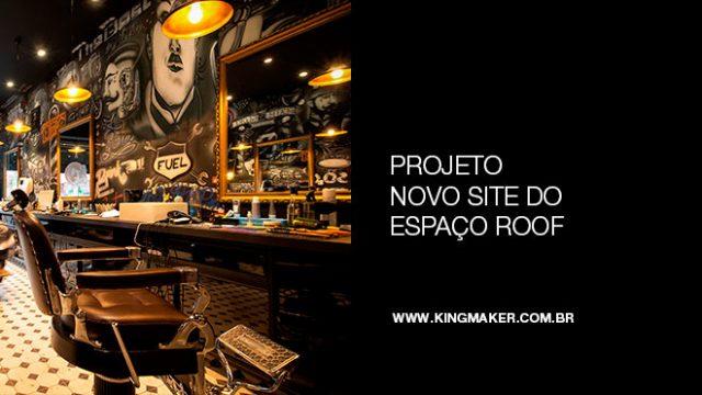 Projeto novo site do espaço ROOF Barbearia, Bar e Charutaria | Alexsandro Kingmaker