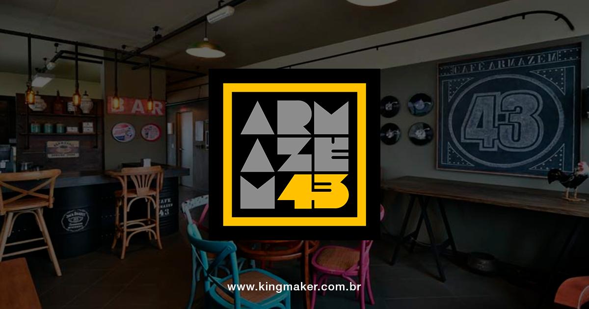 Criação de marca para loja de móveis e design Armazém 43 - Design Studio | Alexsandro Kingmaker