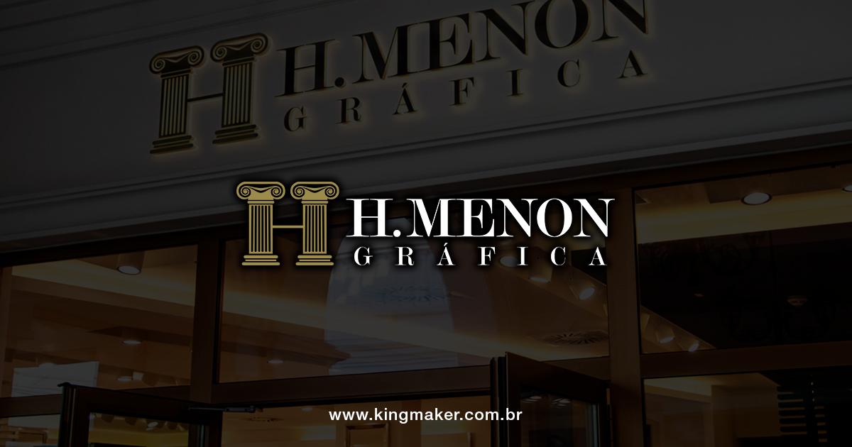 Criação de marcas de luxo - HMenon Gráfica | Alexsandro Kingmaker