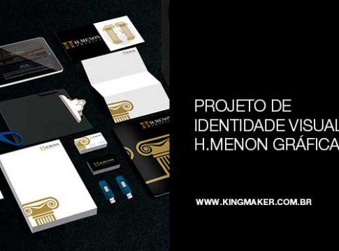 Projeto de identidade visual para H.Menon Gráfica | Alexsandro Kingmaker