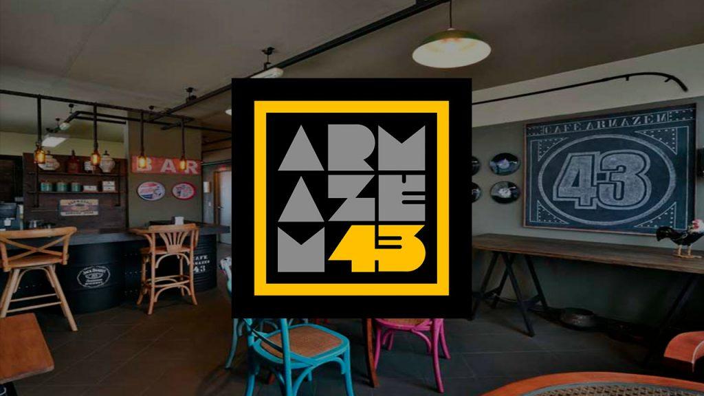 Logotipo Armazém 43 - Design Studio | Alexsandro Kingmaker