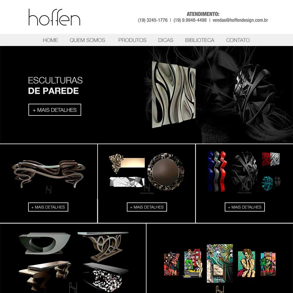 Criação de site para Hoffen Design - Decoração e Design | Alexsandro Kingmaker