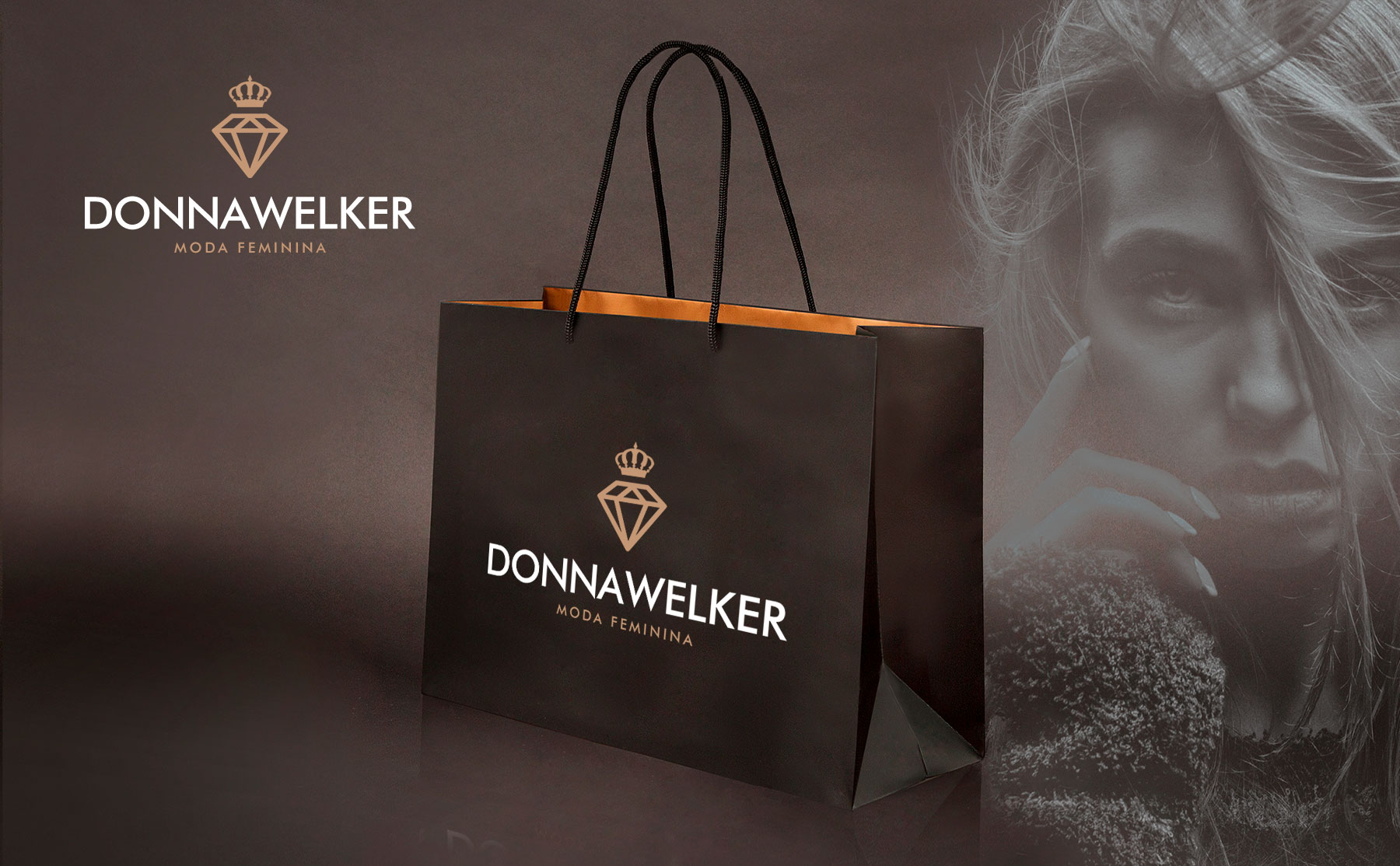 Donna Welker Moda Feminina - Criação de marca para loja feminina | Alexsandro Kingmaker