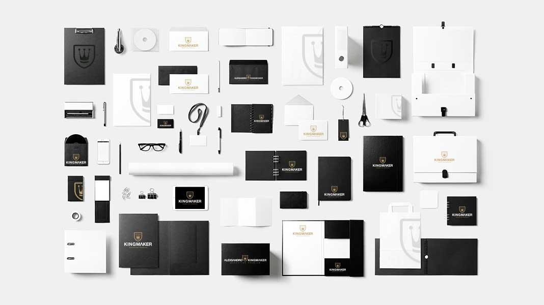 Criação de marcas de luxo e identidade visual premium para papelaria corporativa   Alexsandro Kingmaker