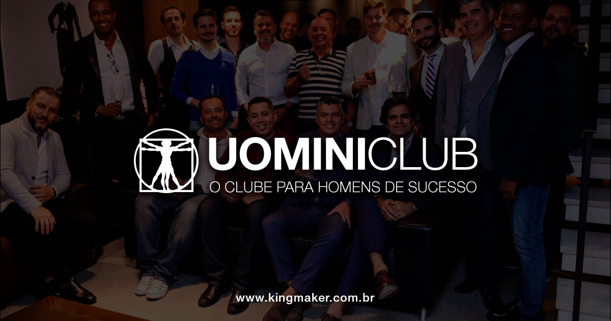 Criação de marca masculina premium - UOMINICLUB   Kingmaker Design